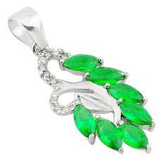 Green emerald quartz topaz 925 sterling silver pendant jewelry c22128