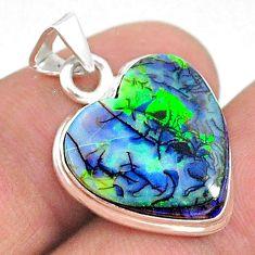 5.92cts heart sterling opal 925 sterling silver pendant jewelry t34602