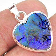 5.51cts heart sterling opal 925 sterling silver pendant jewelry t34606