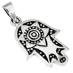 Indonesian bali java island 925 silver hand of god hamsa pendant jewelry c23129