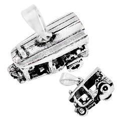 5.26gms indonesian bali solid 925 silver auto tuk tuk rickshaw pendant c20327