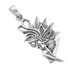 5.89gms indonesian bali style solid 925 silver angel wing pendant jewelry c25893