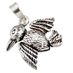 4.69gms indonesian bali style solid 925 silver bird charm pendant jewelry c26325