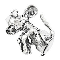6.69gms indonesian bali style solid 925 silver mouse charm pendant c20336