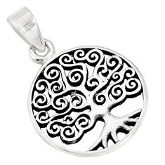 3.47gms indonesian bali style solid 925 silver tree of life pendant c20394