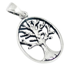 Indonesian bali style solid 925 silver tree of life pendant jewelry c21833