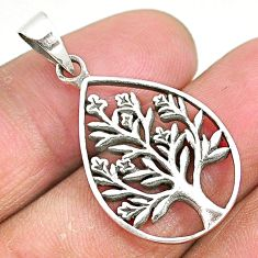 4.48gms indonesian bali style solid 925 silver tree of life pendant t6300