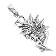 6.02gms indonesian bali style solid 925 sterling silver angel pendant c20347