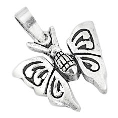 3.02gms indonesian bali style solid 925 sterling silver butterfly pendant c20353