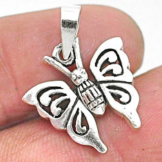 2.48gms indonesian bali style solid 925 sterling silver butterfly pendant t6239