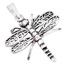 3.48gms indonesian bali style solid 925 sterling silver dragonfly pendant c20385