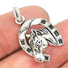3.09gms indonesian bali style solid 925 sterling silver horse pendant t6234