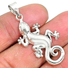 3.85gms indonesian bali style solid 925 sterling silver lizard pendant t6297