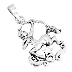 2.69gms indonesian bali style solid 925 sterling silver unicorn pendant c20356