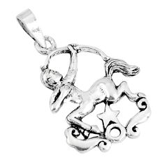 2.89gms indonesian bali style solid 925 sterling silver unicorn pendant c25896