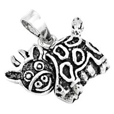 5.26gms indonesian bali style solid 925 sterling silver yak pendant c25887