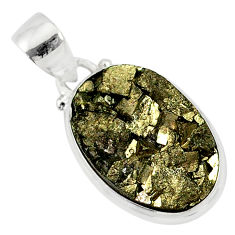 10.84cts marcasite pyrite druzy 925 sterling silver handmade pendant r85823