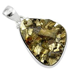 19.23cts marcasite pyrite druzy 925 sterling silver handmade pendant r85850