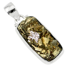9.72cts marcasite pyrite druzy 925 sterling silver handmade pendant r85857