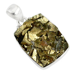 20.07cts marcasite pyrite druzy 925 sterling silver handmade pendant r85862