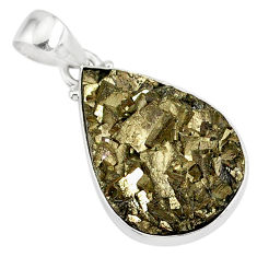 20.65cts marcasite pyrite druzy 925 sterling silver handmade pendant r85868