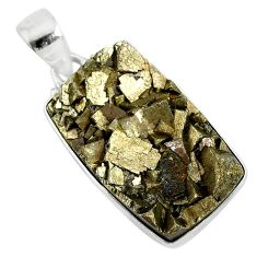 25.57cts marcasite pyrite druzy 925 sterling silver handmade pendant r85874