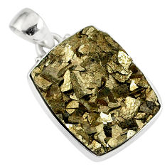 19.07cts marcasite pyrite druzy 925 sterling silver handmade pendant r85876