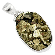 15.08cts marcasite pyrite druzy 925 sterling silver handmade pendant r85883