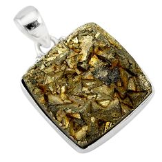 25.57cts marcasite pyrite druzy 925 sterling silver handmade pendant r85893