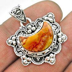 5.36cts moon natural brown cherry creek jasper 925 silver pendant jewelry t56222