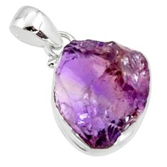 17.22cts multi color ametrine rough 925 sterling silver pendant jewelry r51147