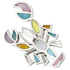 Multi color blister pearl enamel 925 silver scorpion pendant a77557 c14697