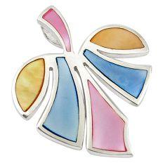 Multi color blister pearl enamel 925 sterling silver pendant a69734 c14602