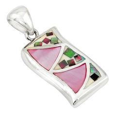 Multi color blister pearl enamel 925 sterling silver pendant a69770 c14435