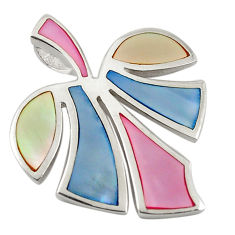 Multi color blister pearl enamel 925 sterling silver pendant a69781 c14601