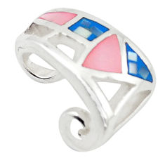 Multi color blister pearl enamel 925 sterling silver pendant a69795 c14541