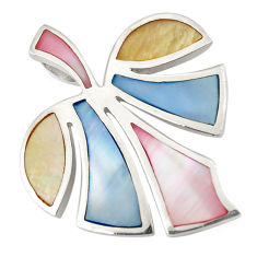 Multi color blister pearl enamel 925 sterling silver pendant a75983 c14607