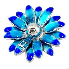 Multi color enamel 925 sterling silver flower pendant jewelry c22706