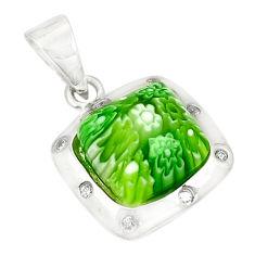 Multi color italian murano glass topaz 925 silver pendant jewelry c21715