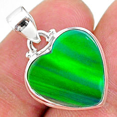 7.15cts multi color northern lights aurora opal (lab) 925 silver pendant t16841