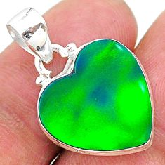 7.23cts multi color northern lights aurora opal (lab) 925 silver pendant t16848