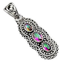 lor rainbow topaz 925 sterling silver pendant jewelry d44811