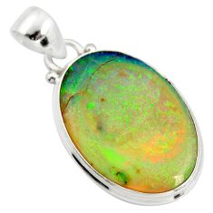 11.74cts multi color sterling opal 925 sterling silver pendant jewelry r25182