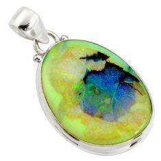 13.67cts multi color sterling opal 925 sterling silver pendant jewelry r25183