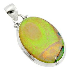 13.70cts multi color sterling opal 925 sterling silver pendant jewelry r25186