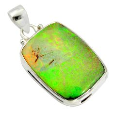 15.08cts multi color sterling opal 925 sterling silver pendant jewelry r25198