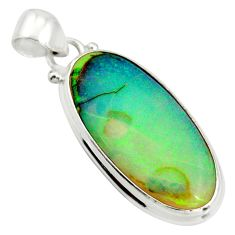 12.62cts multi color sterling opal 925 sterling silver pendant jewelry r25202