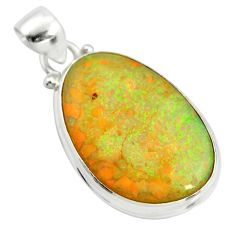 12.62cts multi color sterling opal 925 sterling silver pendant jewelry r25207