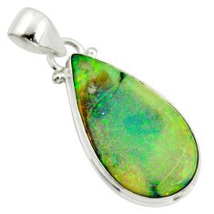 11.74cts multi color sterling opal 925 sterling silver pendant jewelry r25209