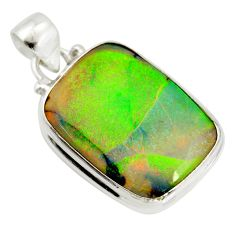 12.62cts multi color sterling opal 925 sterling silver pendant jewelry r25214
